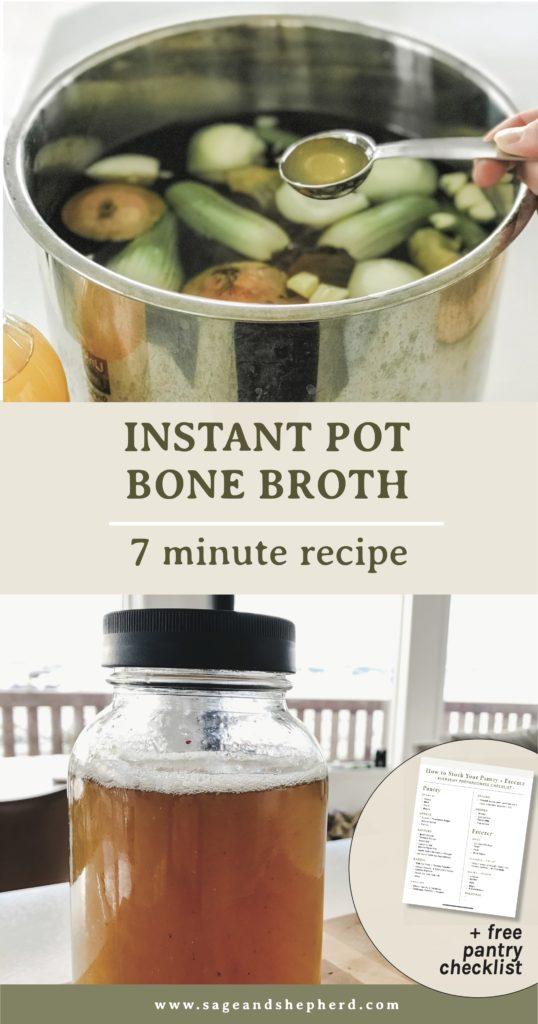 instant pot bone broth 7 minute recipe